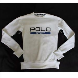 Polo Ralph Lauren sweat shirt warm men XS white